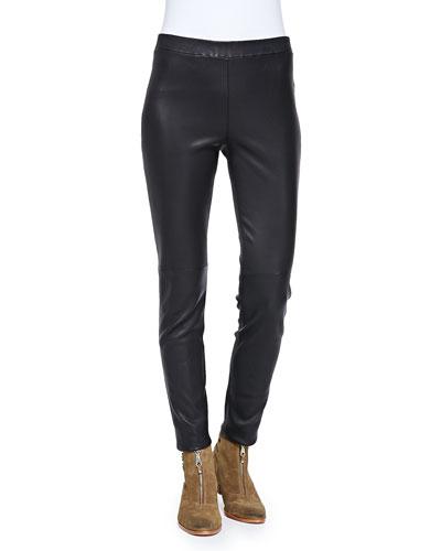 Sterne Slim Leather Pants