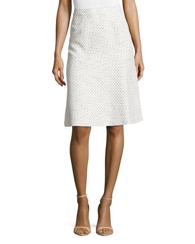 Pastel Tweed A-line Skirt
