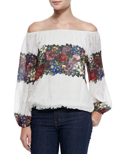 Alta Floral-Print Peasant Top