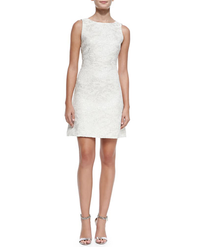 Whela Shimmery Jacquard A-Line Dress