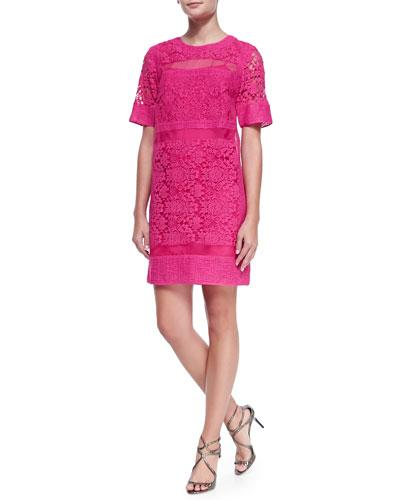 Crochet/Organza/Netted Patchwork Dress