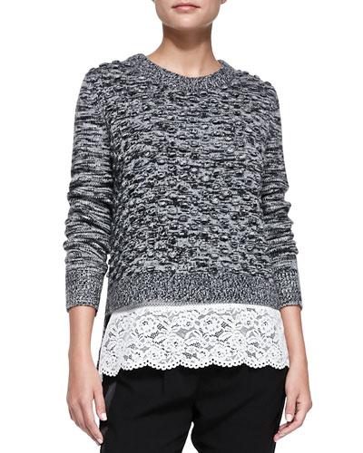 Pom-Pom Knit Pullover