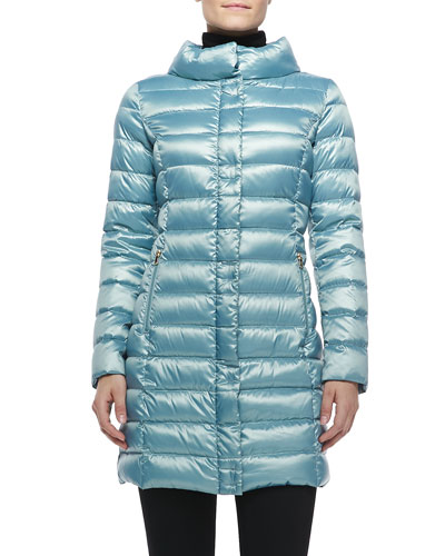 Palermo Puffer Coat, Light Blue