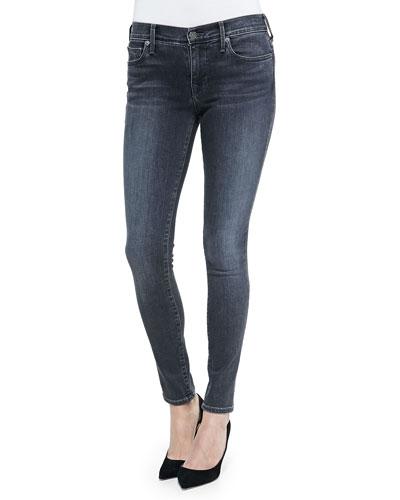 Halle Mid-Rise Super Skinny Jeans, Brick Street
