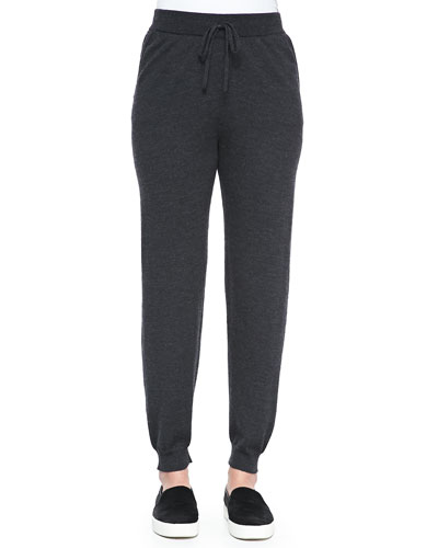 Slouchy Drawstring-Waist Ankle Pants