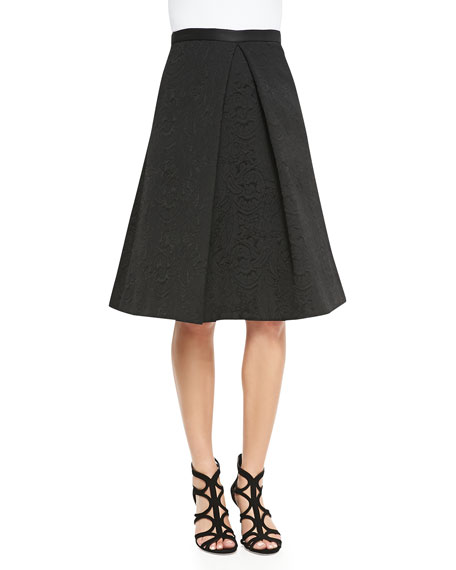 d7a74938210 Tibi Lia Jacquard Center-Pleat Full Skirt