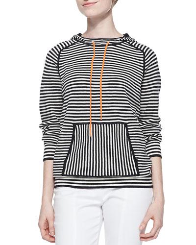 Geraldine Hooded Striped Sweater