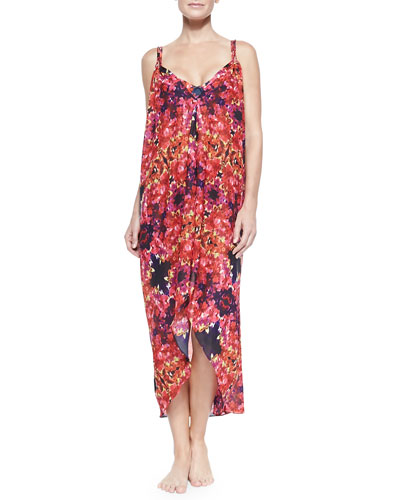 Carnival Sleeveless Cover-Up Dress, Archer Floral