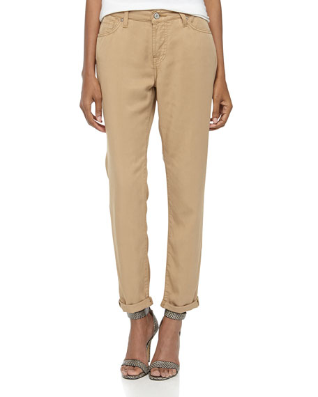 0ec4808fab40c1 7 For All Mankind Josefina Skinny Boyfriend Twill Pants, Tan