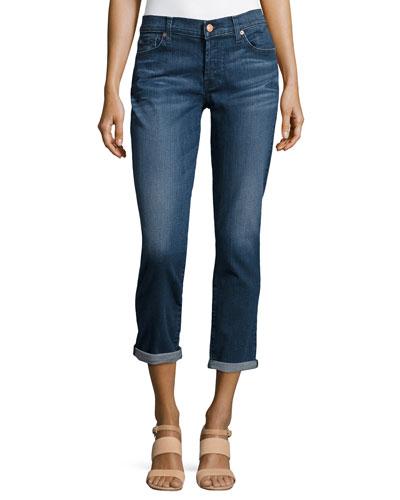 Josefina Cropped Jeans, Castlewood Deep Blue