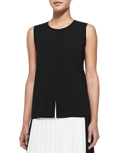 Flyaway-Front Sleeveless Top
