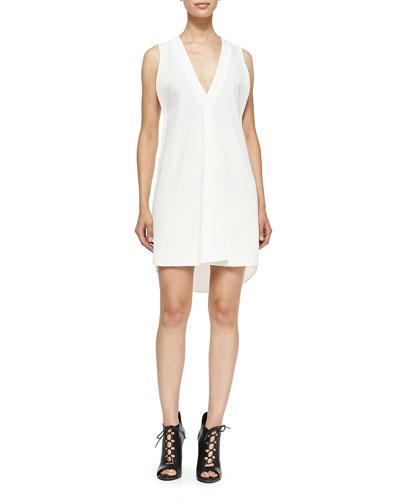 Sleeveless V-Neck Dress W/ Underpinning