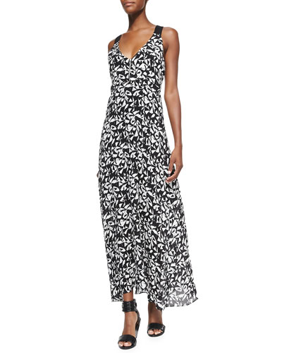 Patti Sleeveless Fan-Printed Dress
