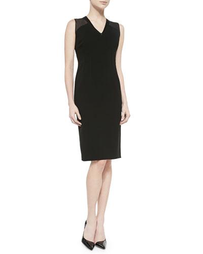 Jillessa Dress W/ Semisheer Detail