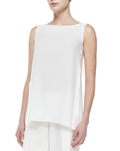 Merryn Sleeveless Silk Blouse