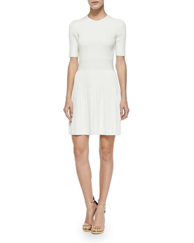 Callalee Pleated-Skirt Knit Dress