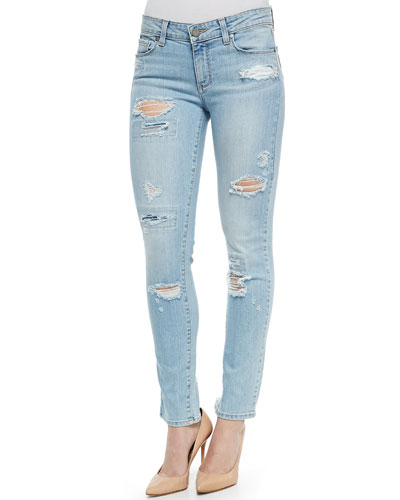 Skyline Distressed Ankle Peg Jeans, Loren Destructed