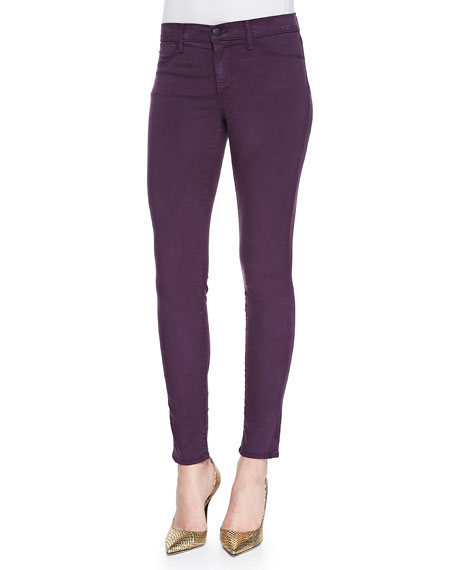 Hot Sale Cheap 100% Authentic J Brand Luxe Sateen Mid-Rise Super Skinny jeans cqwGyVA