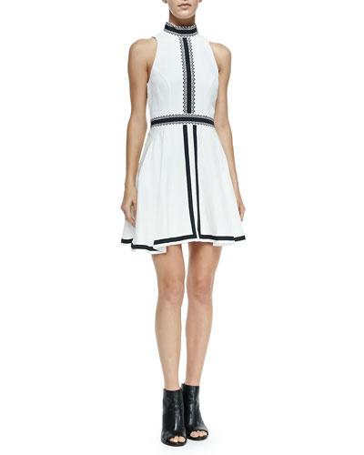 Imagined Features Contrast-Trim Dress