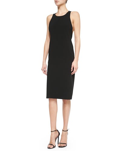 Sleeveless Fitted Dress W/ Twisted Back