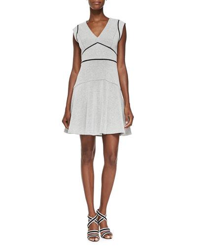 Sleeveless Micro Dot-Print Dress