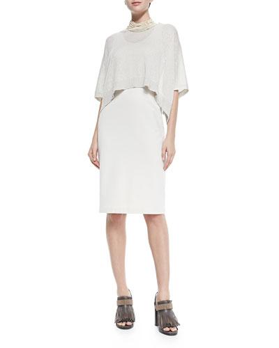 Dress W/ Popover Top Overlay