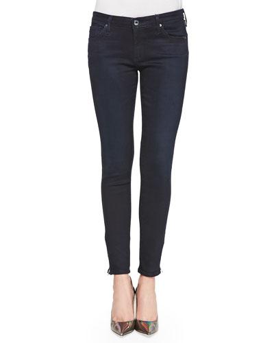 Zip-Up Ankle Legging Skinny, Woodland