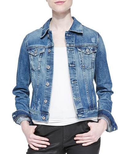 Robyn Distressed Denim Jacket, 17 Year Salvation