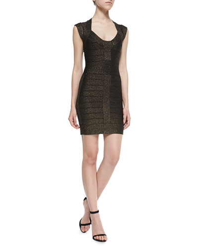 Dani Metallic Knit Bandage Dress