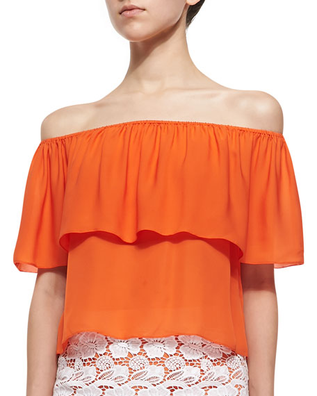 384204870f0ca Rebecca Minkoff Dev Off-the-Shoulder Ruffle Top