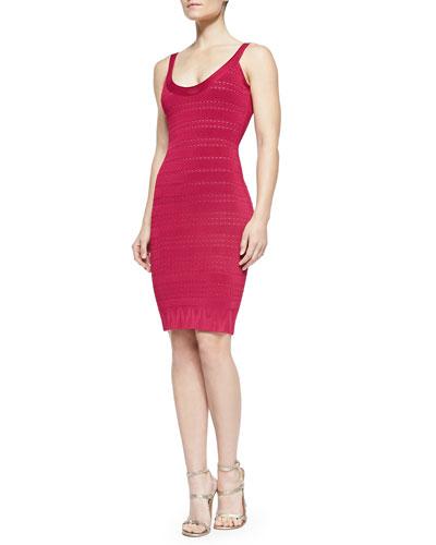 Lilykate Plaited Geometric Lace Dress, Rouge Combo