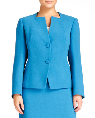 Janet Two-Button Jacket, Pacific, Women's