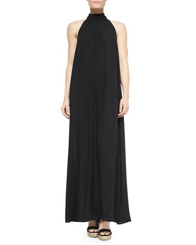 Turtleneck Tie-Back Coverup Maxi Dress