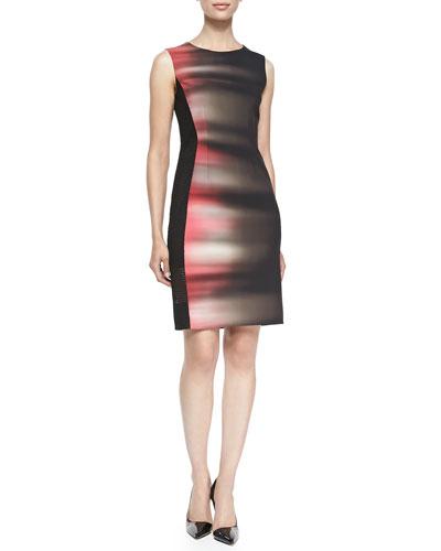 Isabella Sleeveless Velocity 5-Print Dress