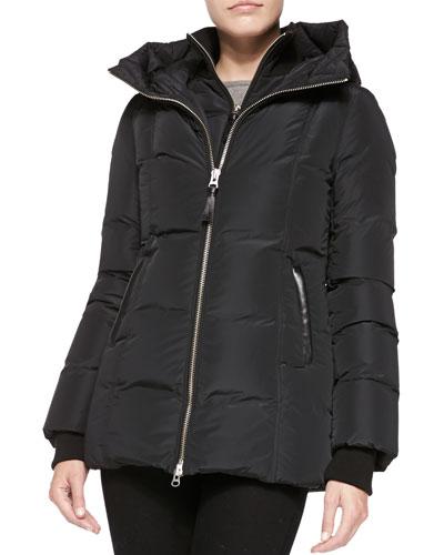 Janie Puffer Jacket with Hood