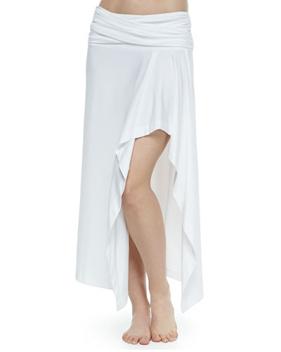 Fold-Over Arched Coverup Skirt