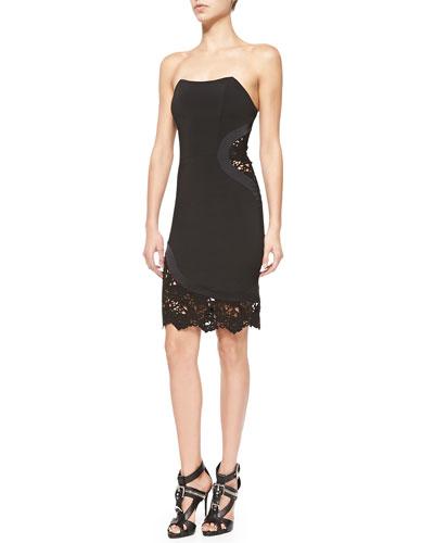 Kalisz Strapless Dress W/ Lace Detail