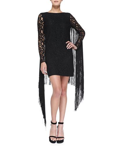 Lace Dress W/ Fringe Back