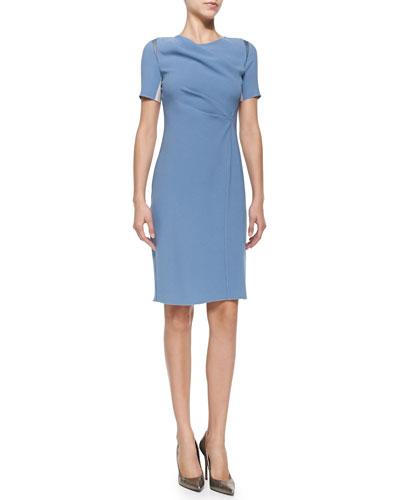 Amymarie Short-Sleeve Dress W/ Side Pleat