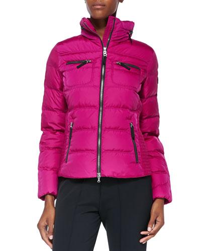 Leony Puffer Jacket, Cranberry