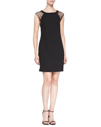 Nettle Cap-Sleeve Dress