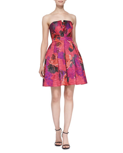 Marley Strapless Floral Cocktail Dress