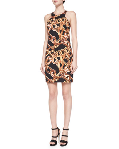 Aptos 2  Chain-Link Print Dress