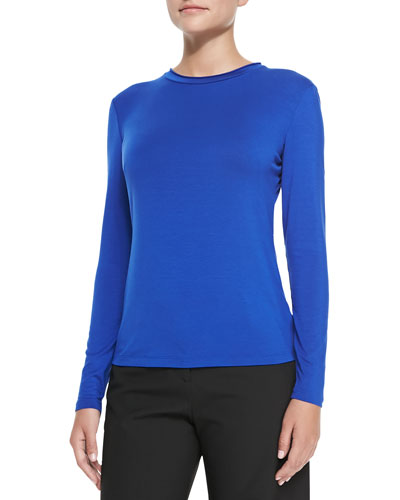 Long-Sleeve Jersey Tee, Imperial