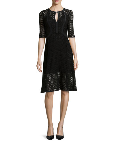 Drumbeat Crocheted Lace Dress