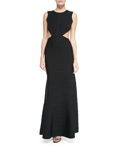 Cassandra Open-Back Bandage Gown