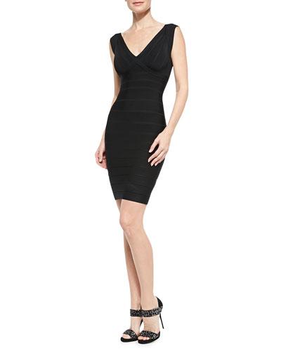 Karima Signature Bandage Dress, Black