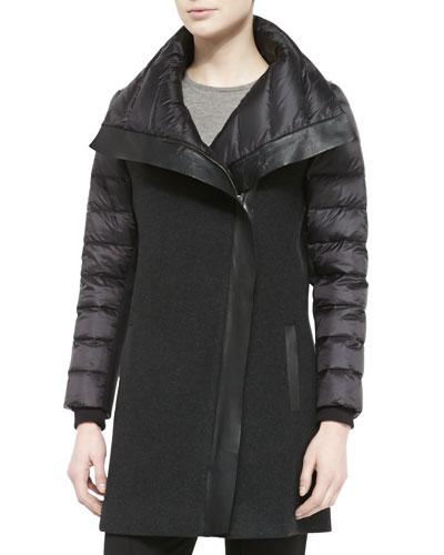 Audrey Long Combo Puffer Coat