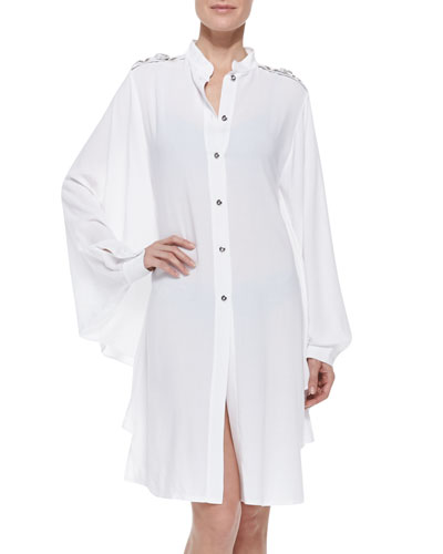 Portofino Camicia Jewel-Shoulder Coverup
