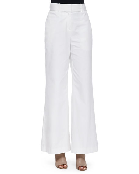 0e9afe44d7d6 Lafayette 148 New York High-Waist Wide-Leg Pants, White